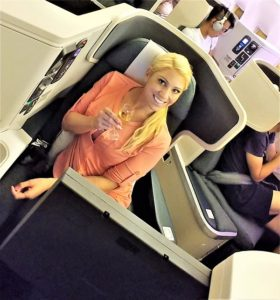Cathay Pacific Business Class Champagne