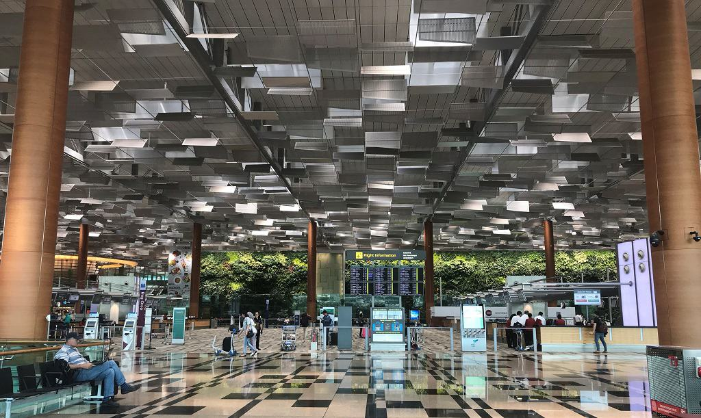 Singapore Changi Airport Ticketing Area