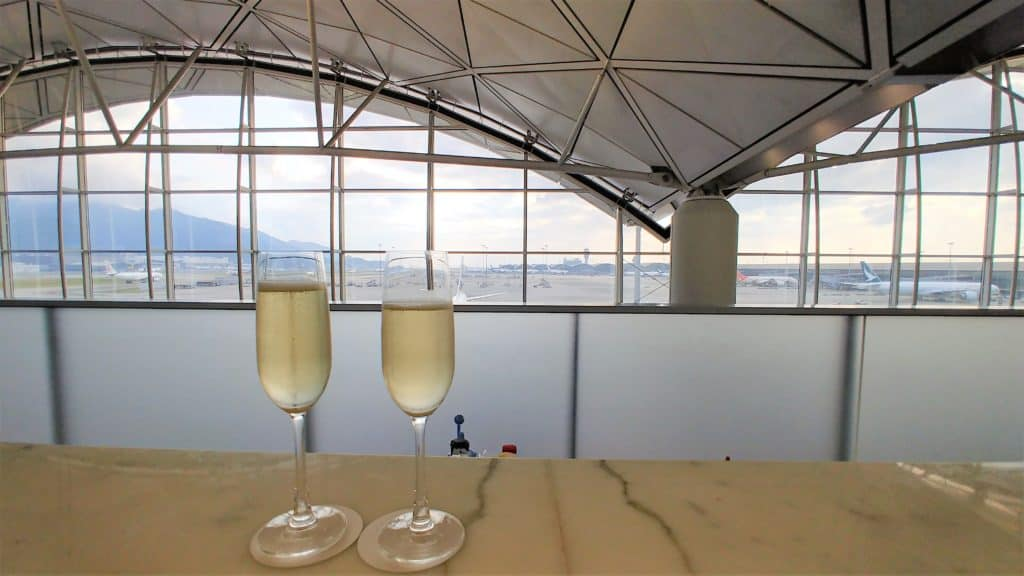 Cathay Pacific The Wing Champagne