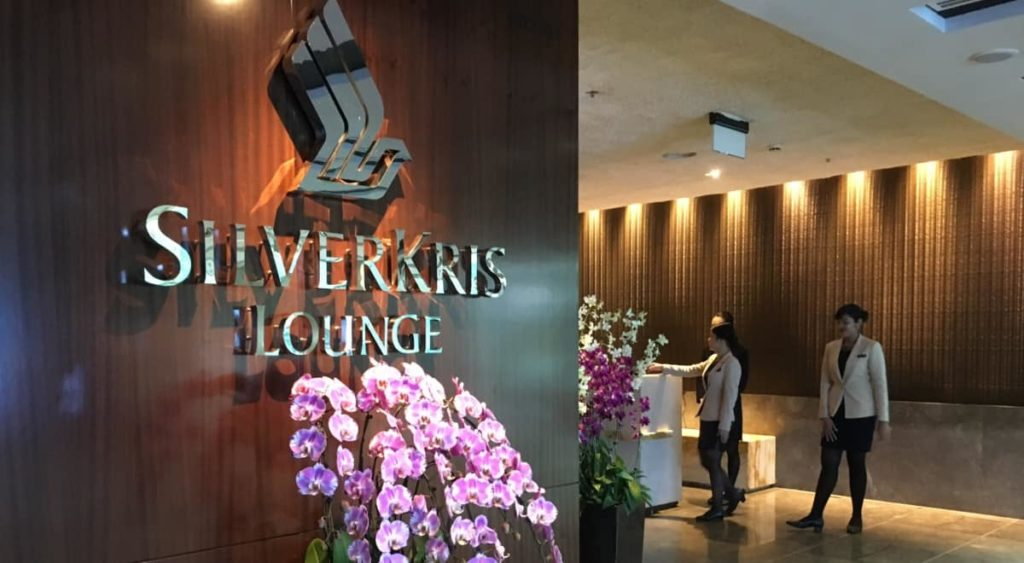 Singapore Airlines Lounge Entrance Sign
