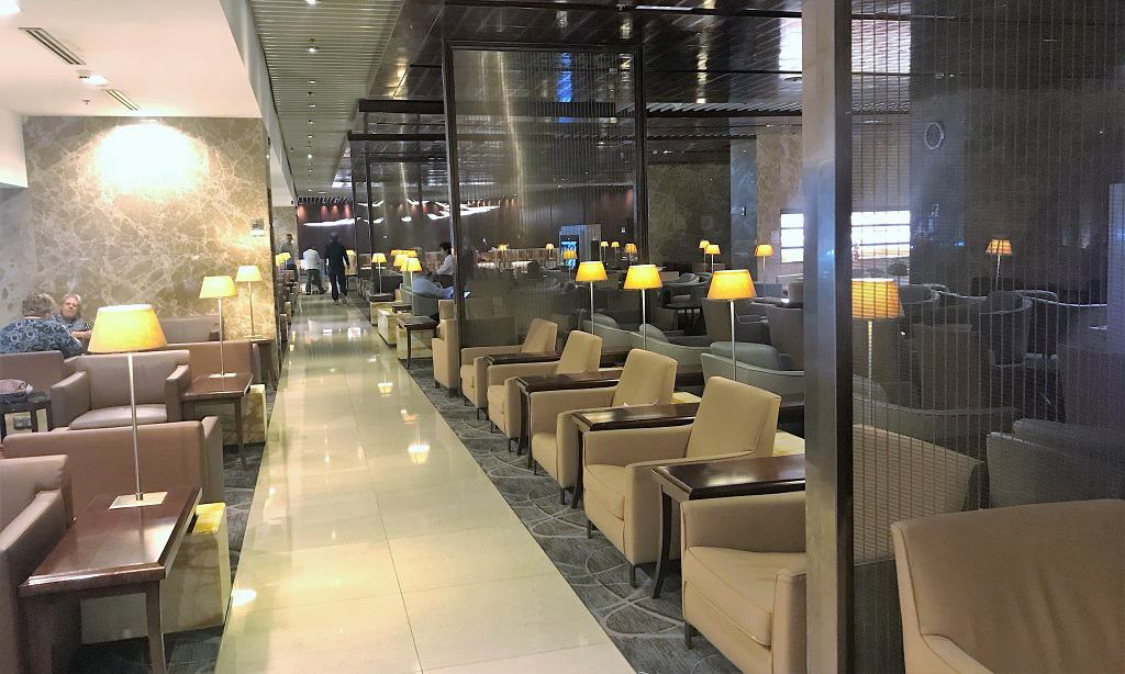 Singapore Airlines SilverKris Lounge Seating