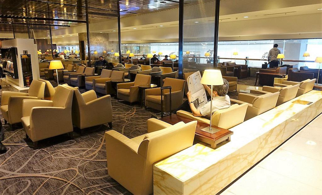 Singapore Airlines Business Class Lounge Seating