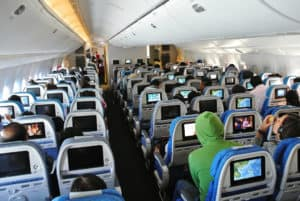 Cathay Pacific 777-300ER Economy Cabin