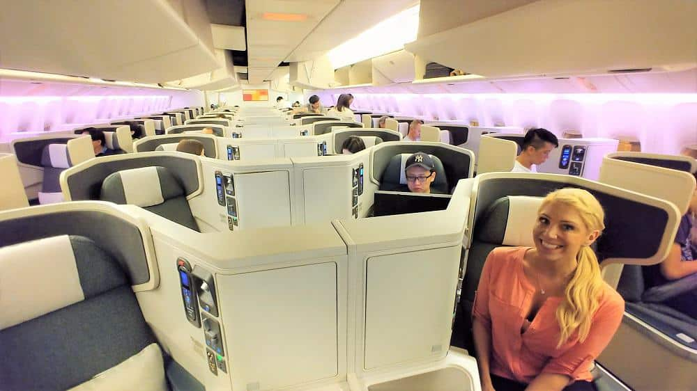 Cathay Pacific Business Class Cabin 777-300ER