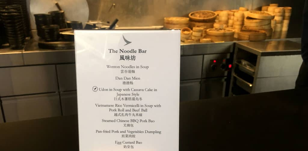 Hong Kong Cathay Pacific The Wing Noodle Bar