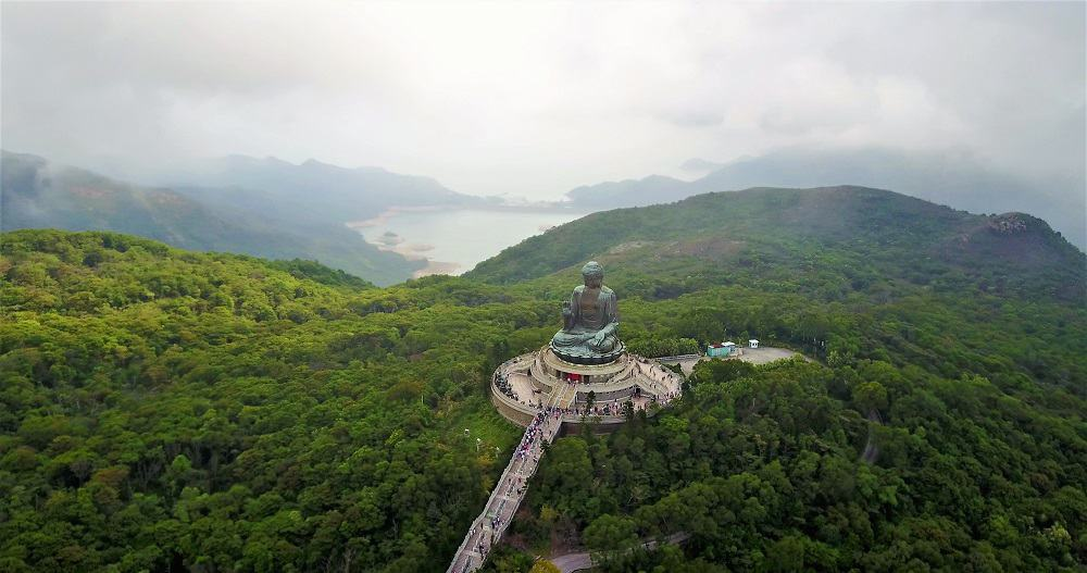 Tian Tan Big Buddha Drone 4K