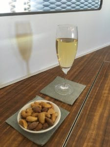 Cathay Pacific First Class Champagne