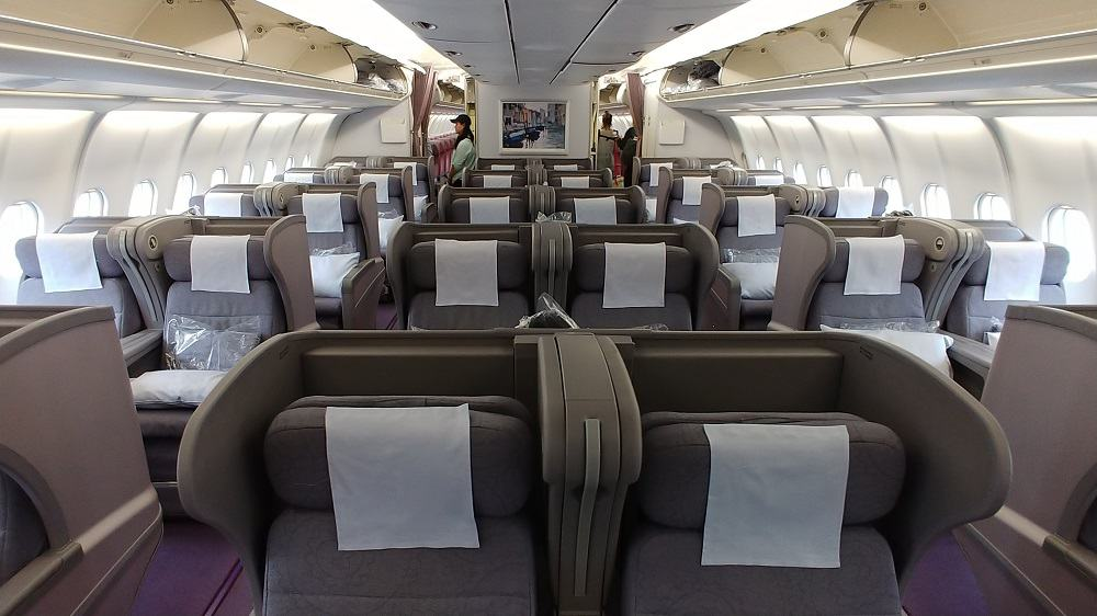 China Airlines A330 Business Class Cabin