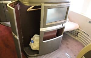 Cathay Pacific First Class Storage
