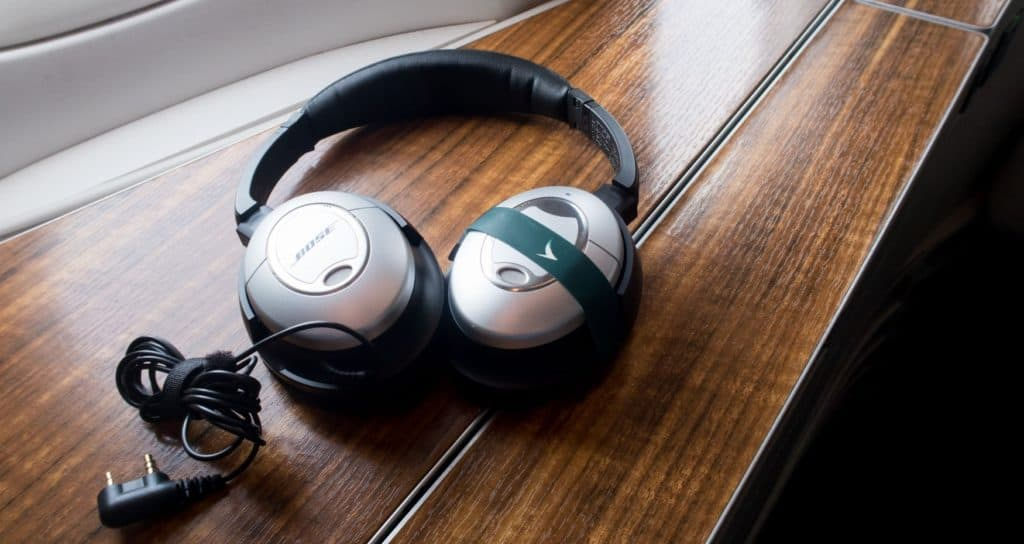 Cathay Pacific First Class Bose Headphones