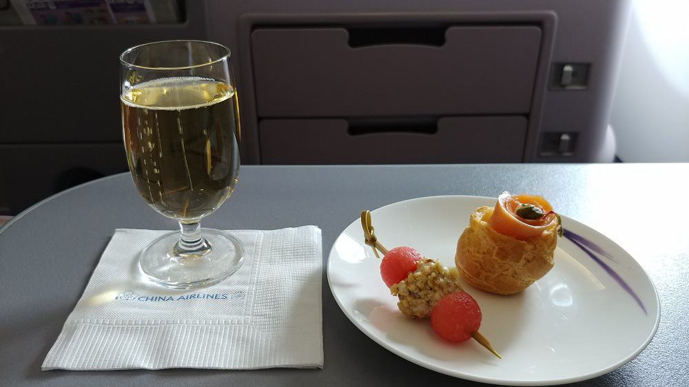 China Airlines Business Class Champagne