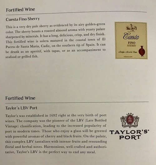 Cuesta Fino Sherry and Taylor's LBV Port