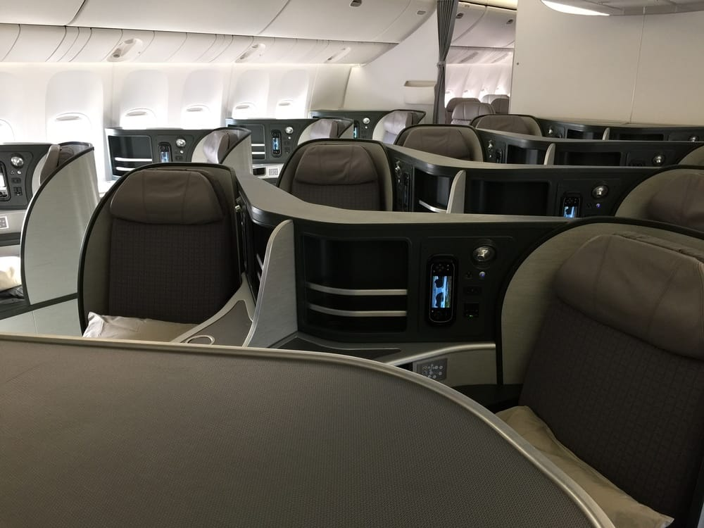 EVA Air 777-300ER Business Class Cabin