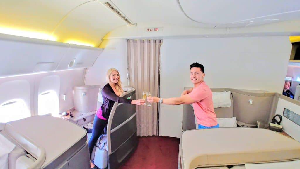 Cathay Pacific 777-300ER First Class Cabin