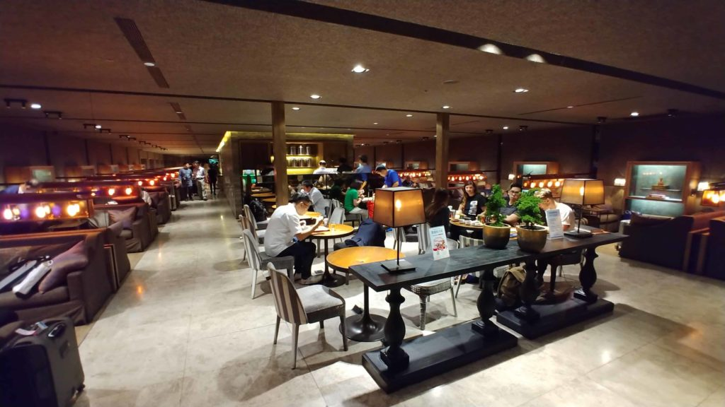 China Airlines Lounge Taipei Seating