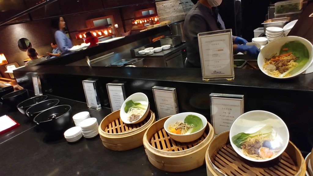 China Airlines Lounge Taipei Food