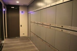 EVA Air The Infinity Lounge Lockers
