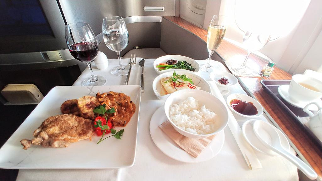 Cathay Pacific First Class Food