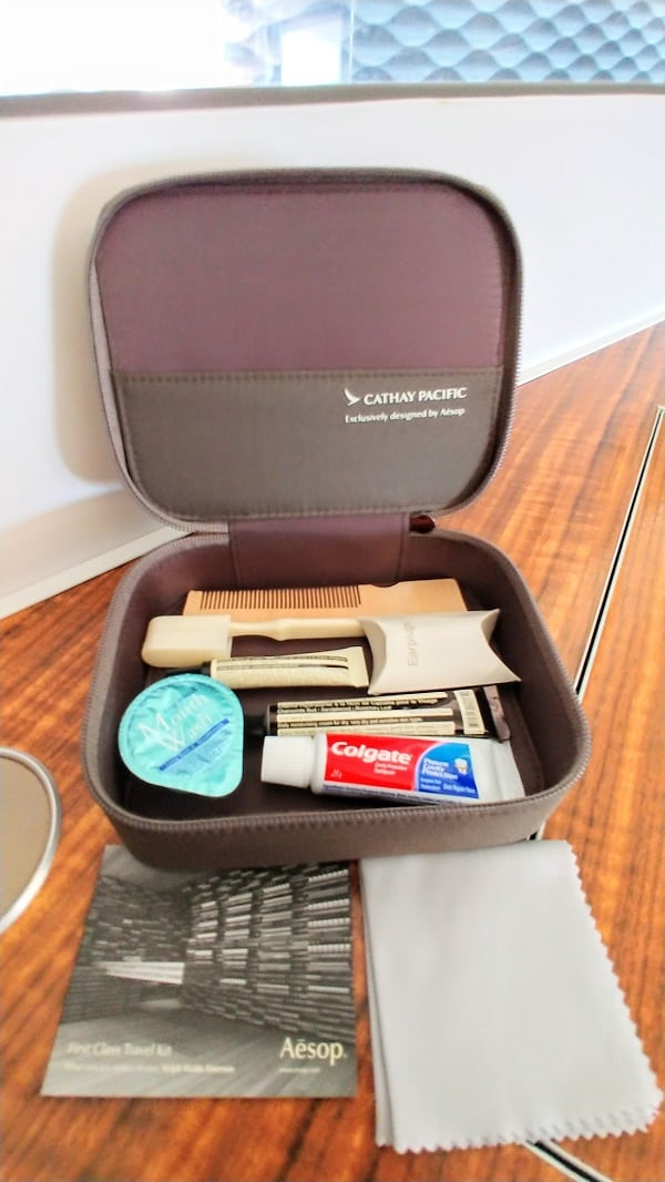 Cathay Pacific First Class Amenity Kit Male