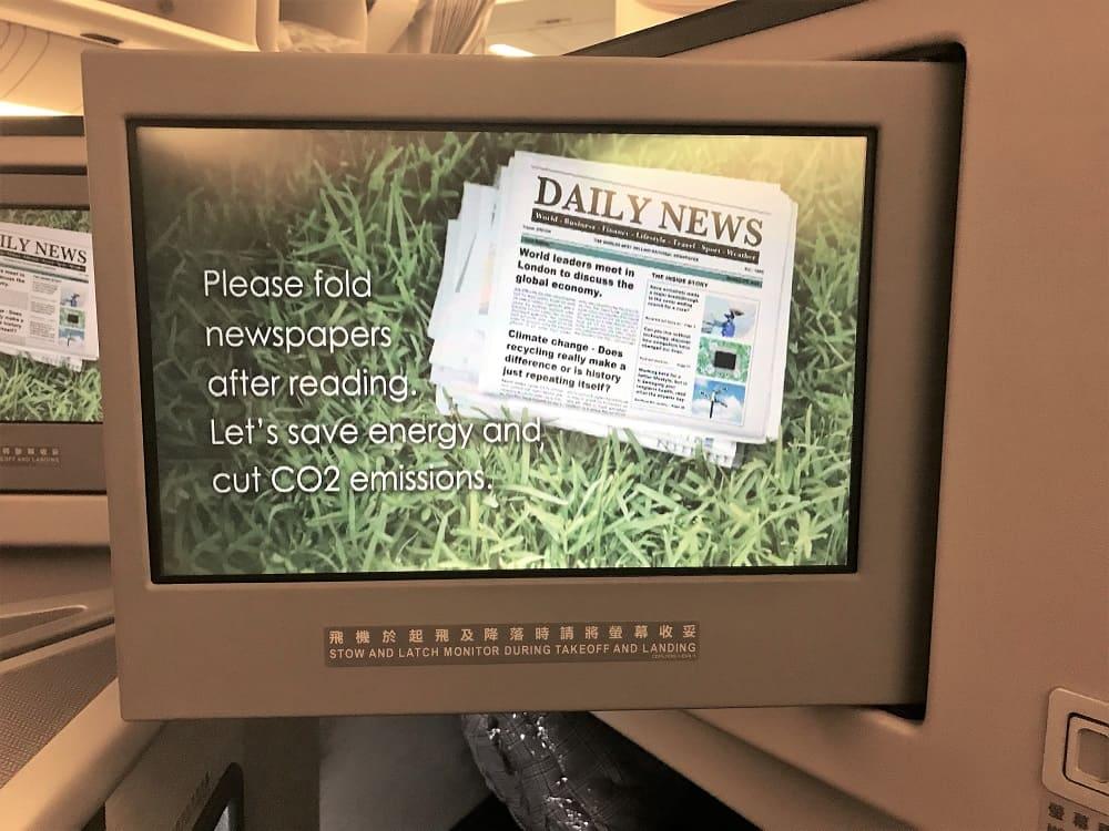 TV screen in biz