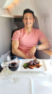 Cathay Pacific First Class Lunch