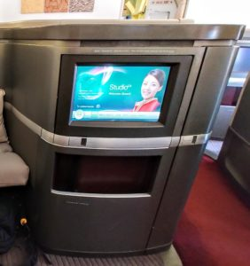 Cathay Pacific First Class TV Screen