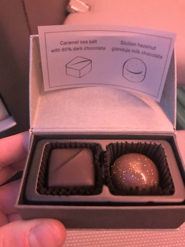 Cathay Pacific First Class Chocolates