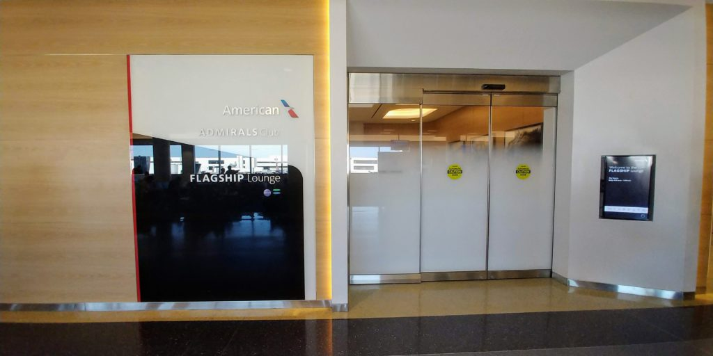 American Airlines Flagship Lounge LAX Sign