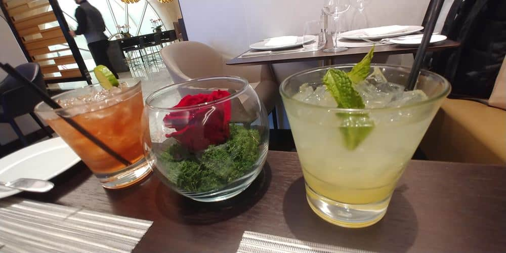 American Air Flagship First Cocktails