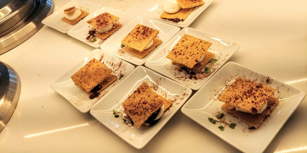 American Airlines Flagship Lounge S'mores
