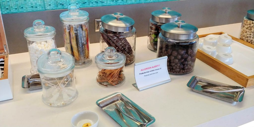 American Airlines Flagship Lounge Snacks