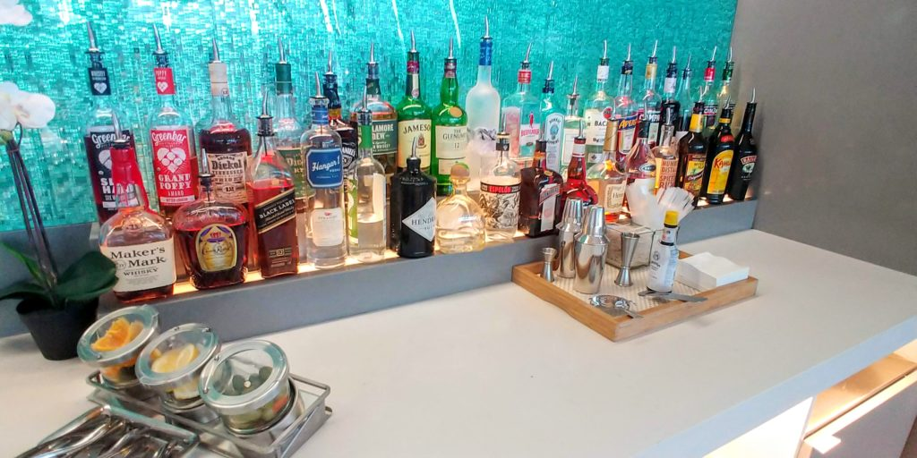 American Airlines Flagship Lounge Spirits