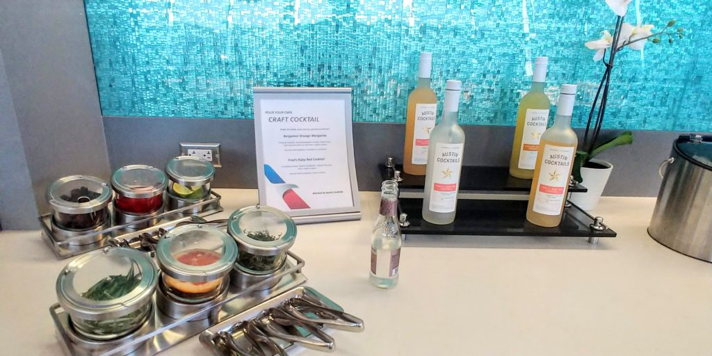 American Airlines Flagship Lounge Make Your Own Drink Station