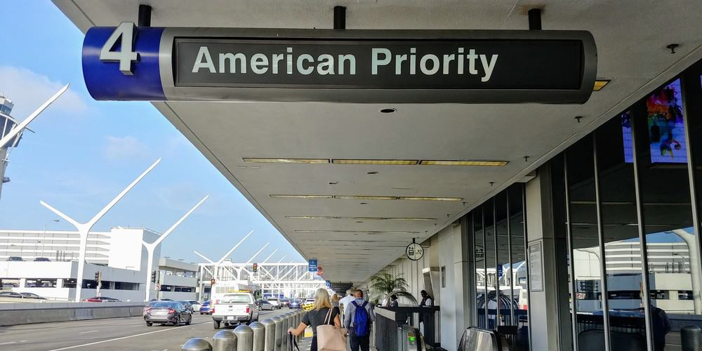 American Airlines Priority Sign LAX