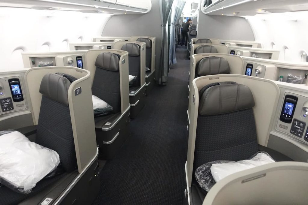 American 321T first class cabin