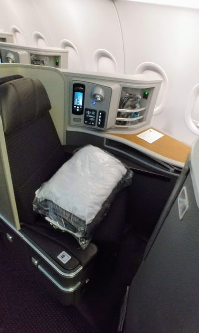 American A321 first class seat