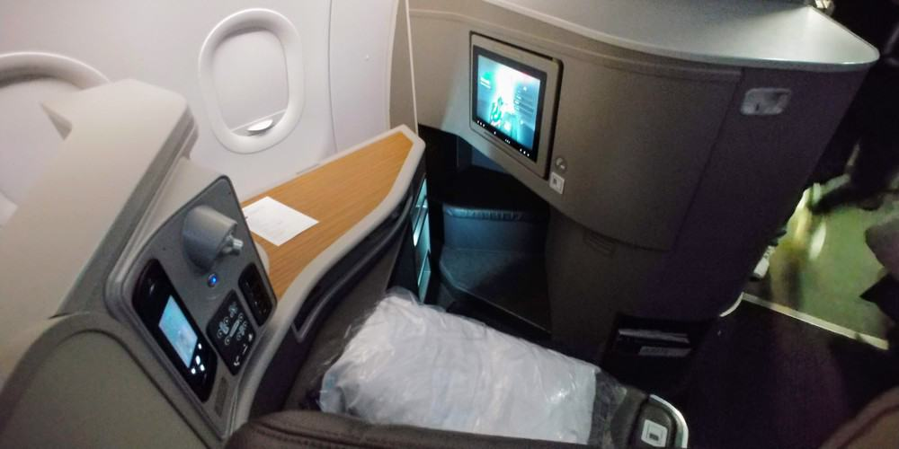 American Air 321T first seat