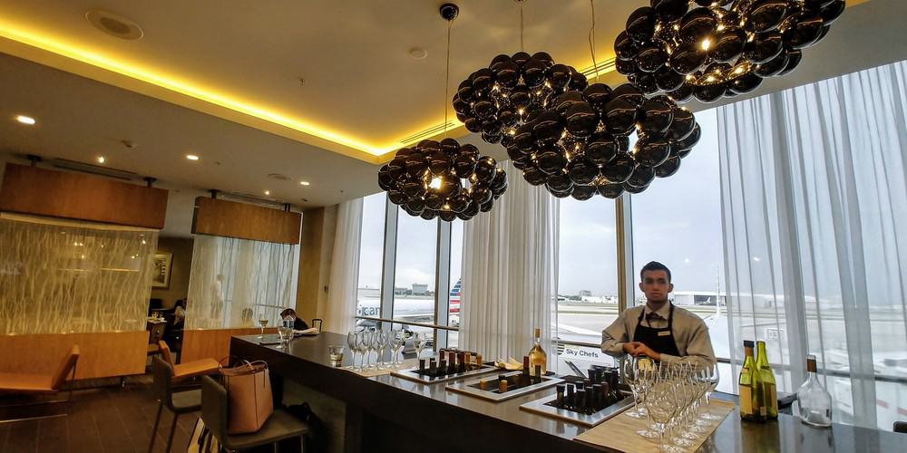 American Flagship Lounge Bar Area MIA Airport