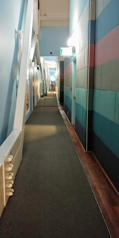 Hallway to Second Seating Area