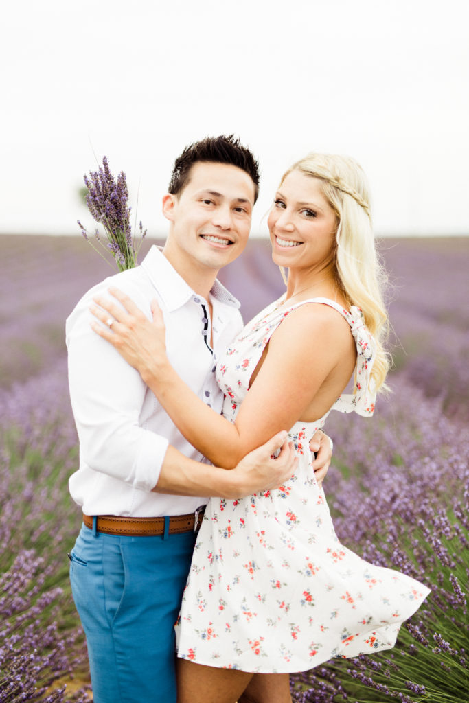 Proposal in lavender fields of Provence, France