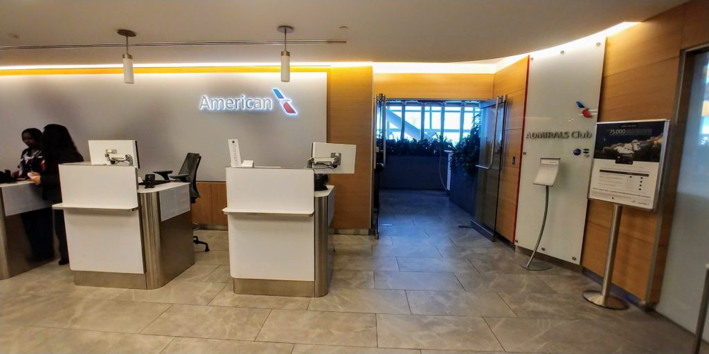 Entrance to Admirals Club JFK