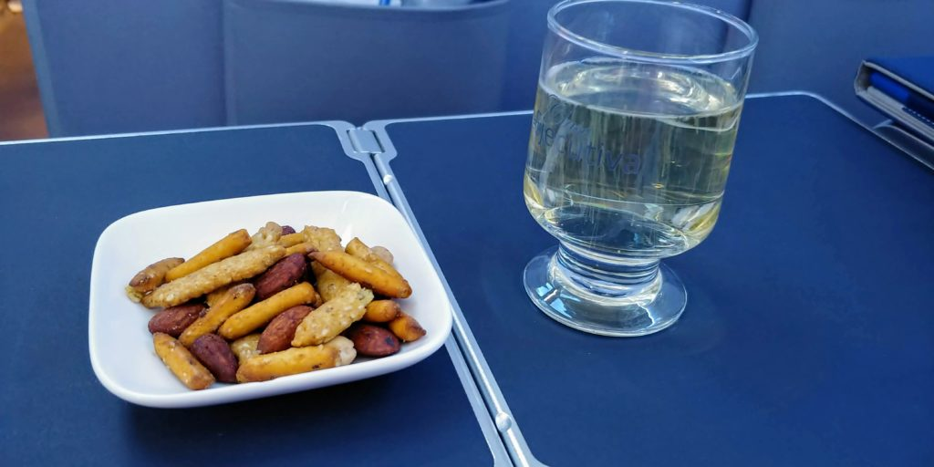 Pre Departure Cava and Nuts Copa Business Class