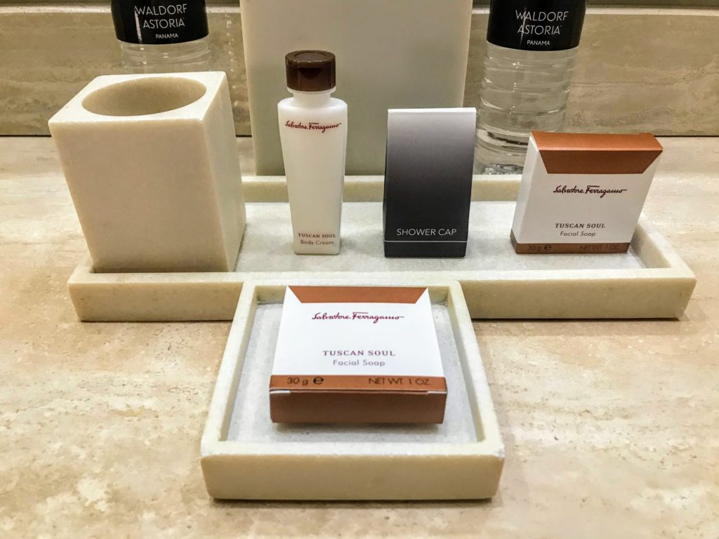 Ferragamo Amenities Waldorf Astoria