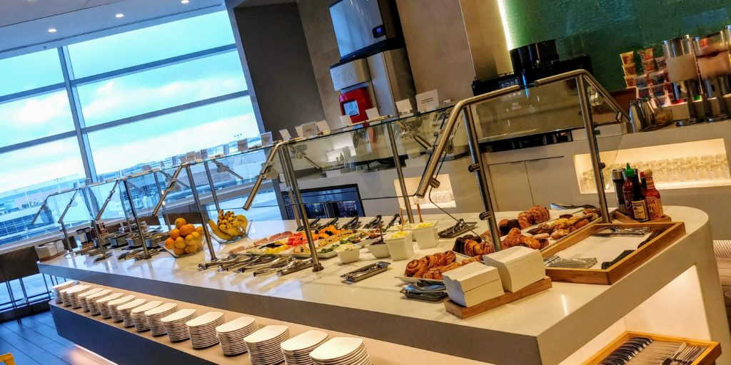 Breakfast Buffet American Airlines New York Lounge Flagship