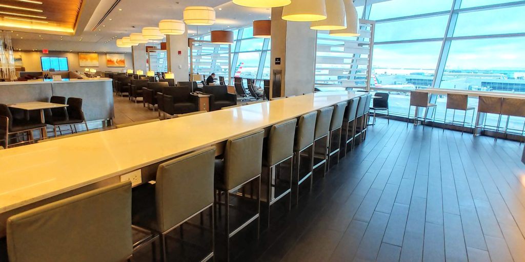 Seating By Dining Area AA Flagship Lounge JFK