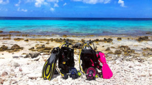 Getting Ready to Dive on Bonaire