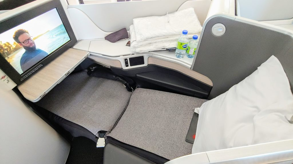 Reclined Dreamliner Seat Air Canada Business Class