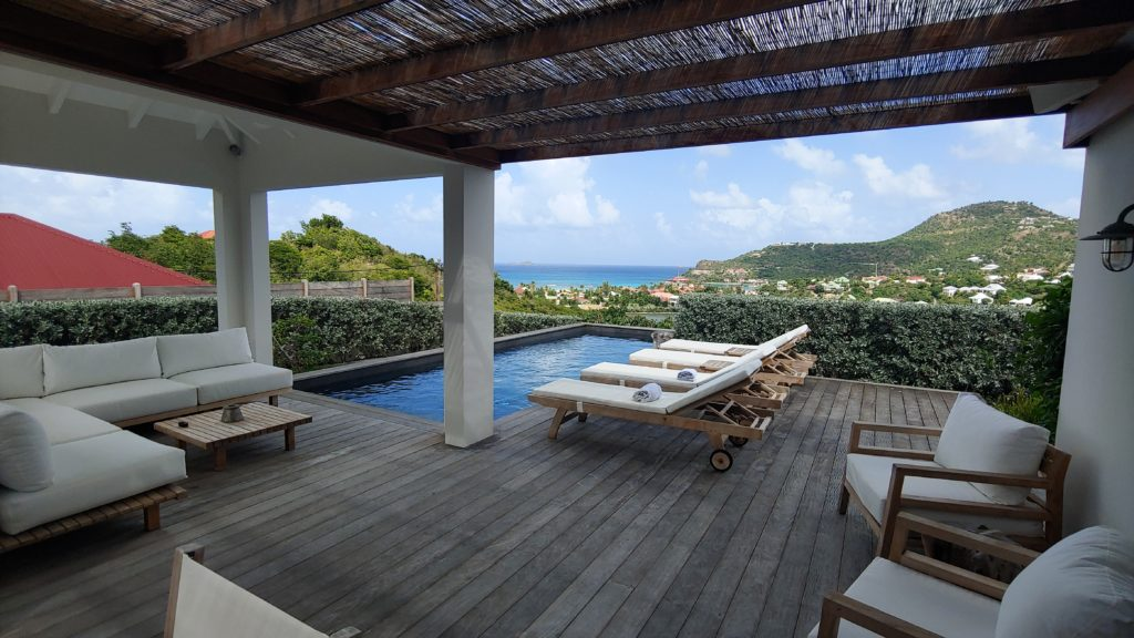 Outdoor Deck and Pool St Barth Villa APE