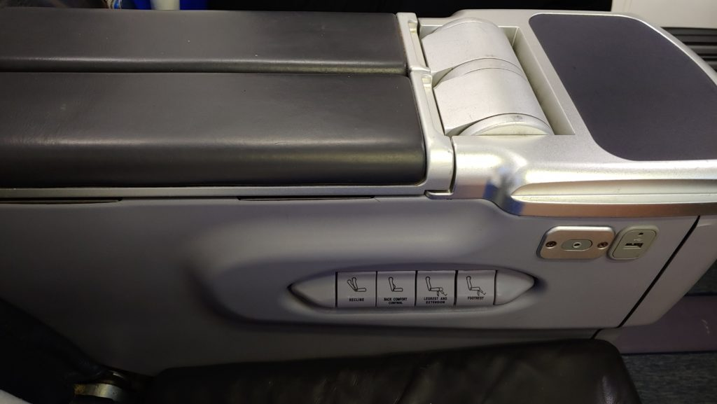 Seat Controls Copa Airlines Business Class