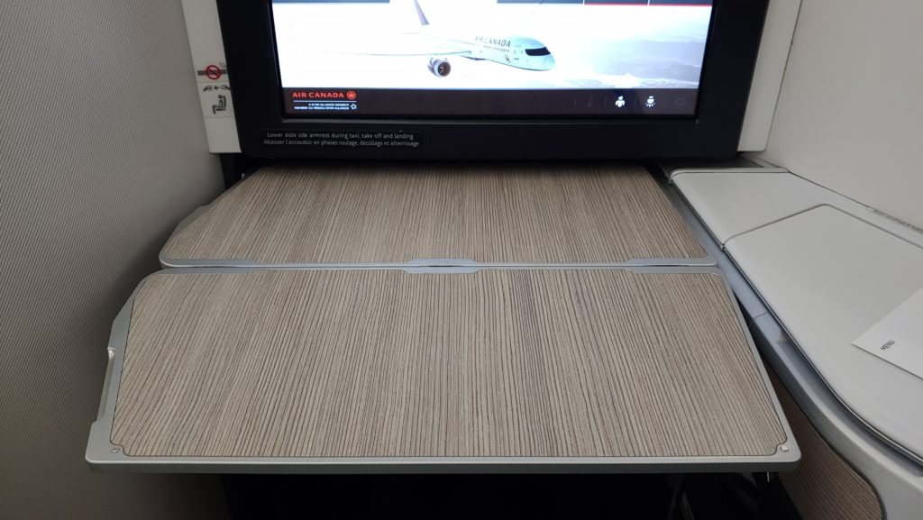 Tray Table Extended